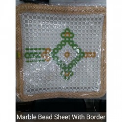 Acupressure Marble Bead Car Seat Cover with Border (Universal Size)