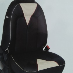 Design Leatherite car seat covers in Black grey combination for small cars