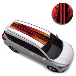 Color Burn Car Styling Car Roof Wrap