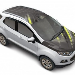 Square Play Grey Ford Ecosport Car Roof Wrap - Bonnet wrap Combo