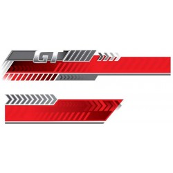 Car Styling Graphic Decals Trend Mark Set of 2 pcs