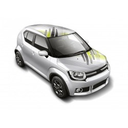 Bonnet Wrap Combo - Square Play White-Maruti Ignis Car Roof Wrap