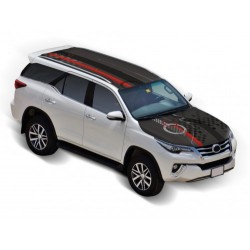 Roof Wrap Combo - Checkmate Toyota Fortuner Car Bonnet Wrap