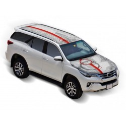 Roof Wrap Combo Toyota Fortuner Car Bonnet Wrap